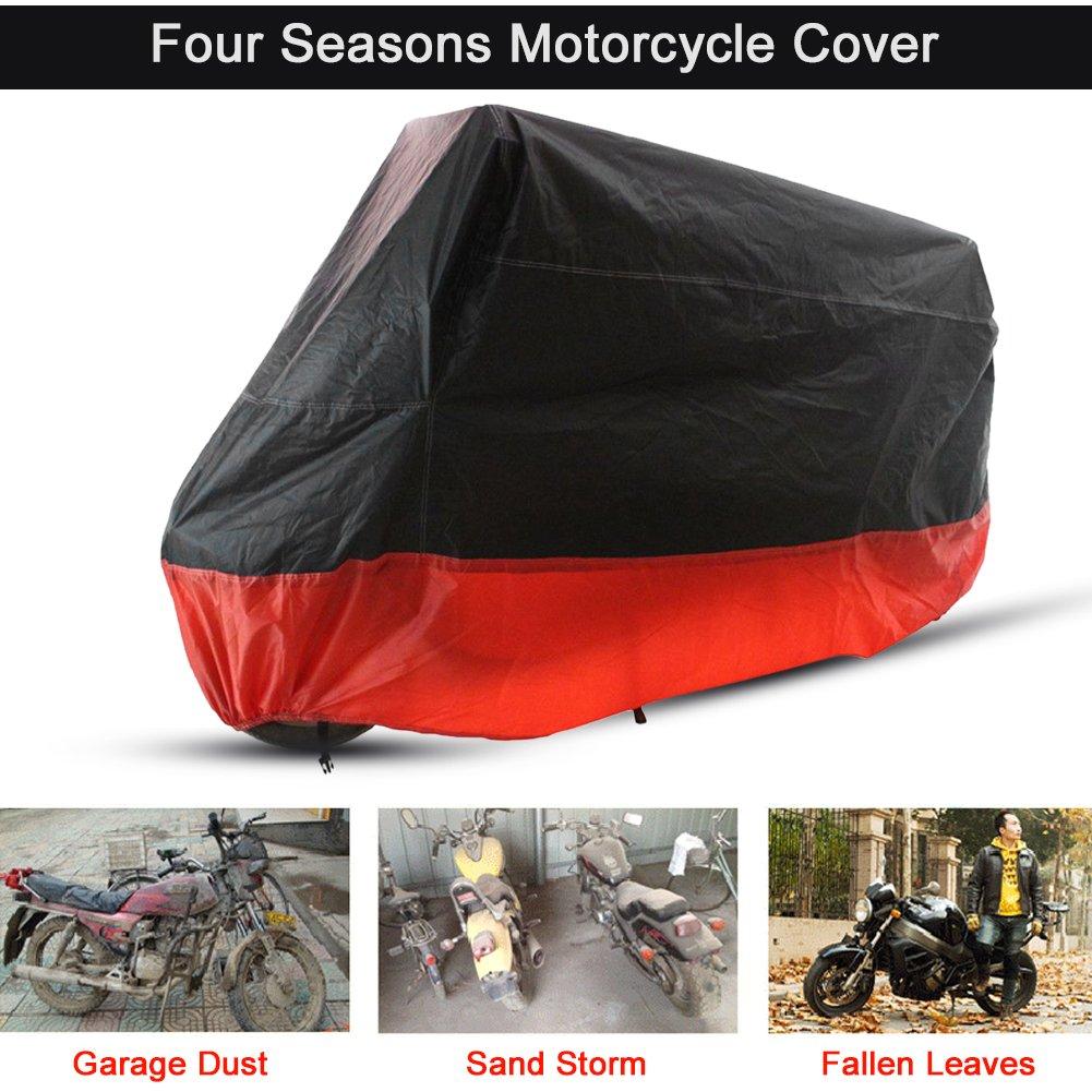 L motocicleta ciclomotor Scooter cubierta completa Respirable Polvo al aire libre Lluvia Protector UV Cubierta impermeable Funda para motocicleta