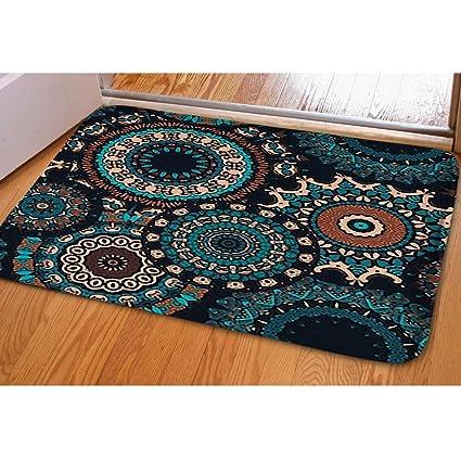 e092a01a7953 Amazon.com : iBathRugs Door Mat Indoor Area Rugs Living Room Carpets Home  Decor Rug Bedroom Floor Mats, Seamless Pattern Psychedelic Kaleidoscope  footage ...
