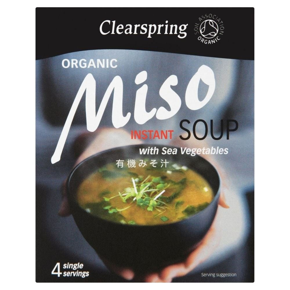 Clearspring Organic Miso Instant Soup & Sea Vegetable (4 per pack - 40g) - Pack of 2