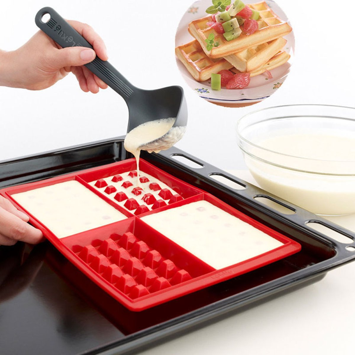 Tacoli- Cake Silicone Moulds- Waffle Makers For Kids Silicone Cake Mould Waffle Mould Silicone Bakeware Set Nonstick Silicone Baking Mold Set