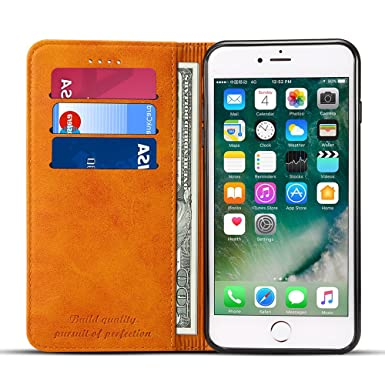 Wallet Case Compatible I Phone 6 / I Phone 6s, Premium Pu Leather Wallet Case Flip Folio [Kickstand Feature] With Id&Credit Card Pockets For I Phone 6s/ 6 4.7 Inch Khaki by Fly Hawk