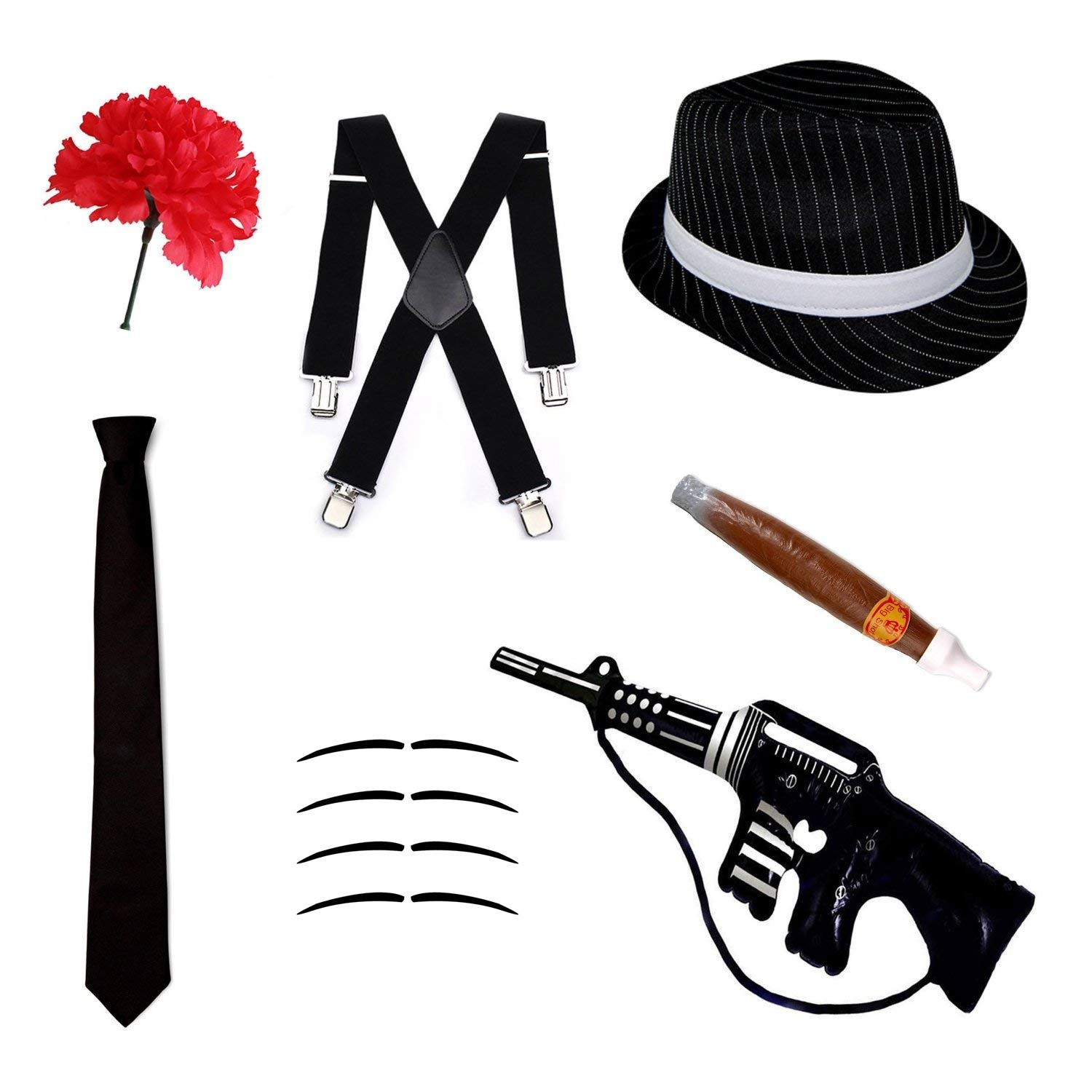 Gangster Fancy Dress Set - Trilby Hat e7369d47f3cb