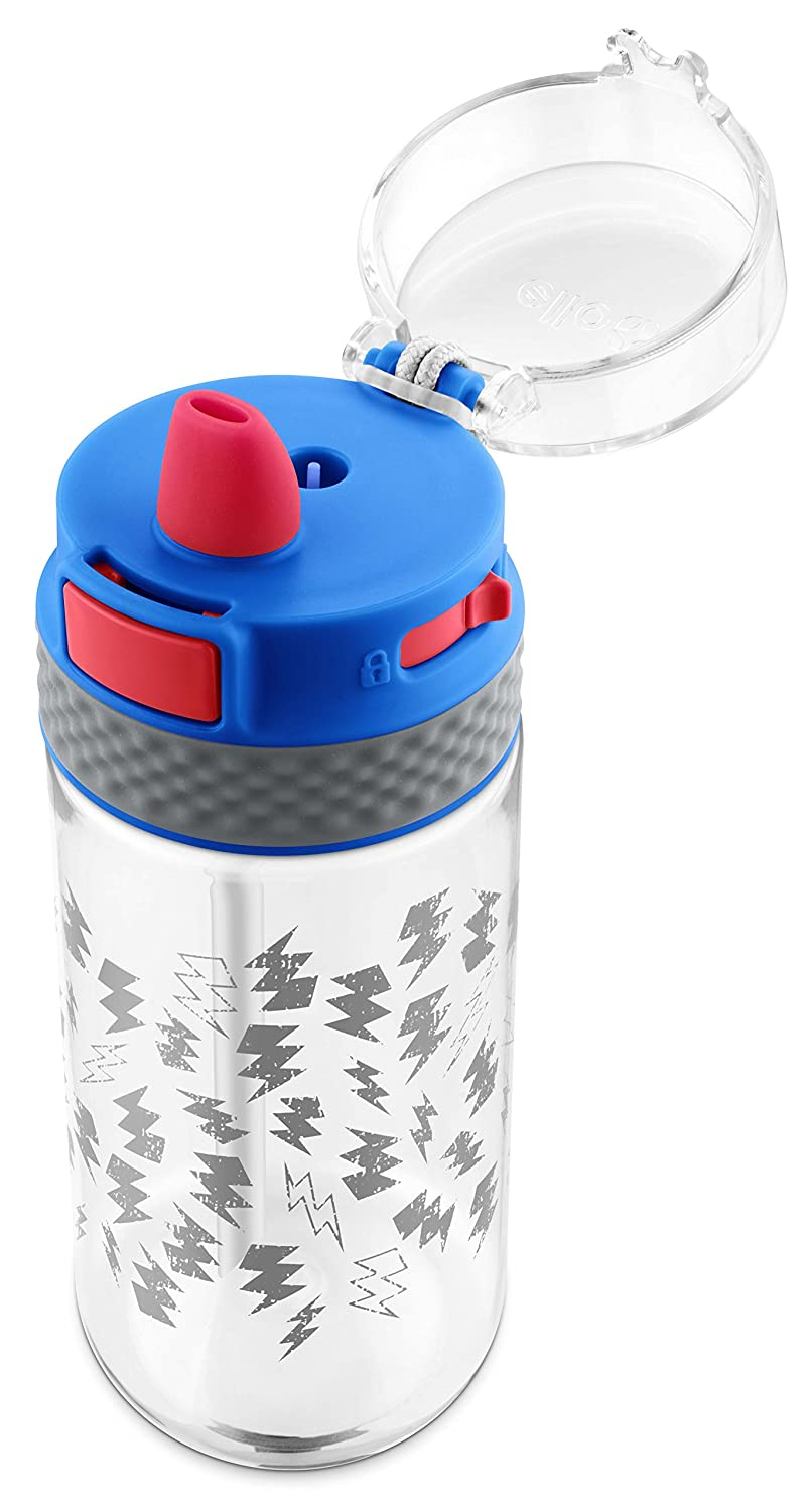 Ello Stratus Tritan Plastic Water Bottle 16 oz. Blue//Grey