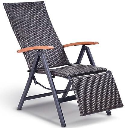 Amazon.com: Patio Lounge silla reclinable jardín plegable ...