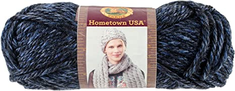 Milwaukee Midnight Lion Brand Yarn 135-224 Hometown Yarn Pack of 3 skeins