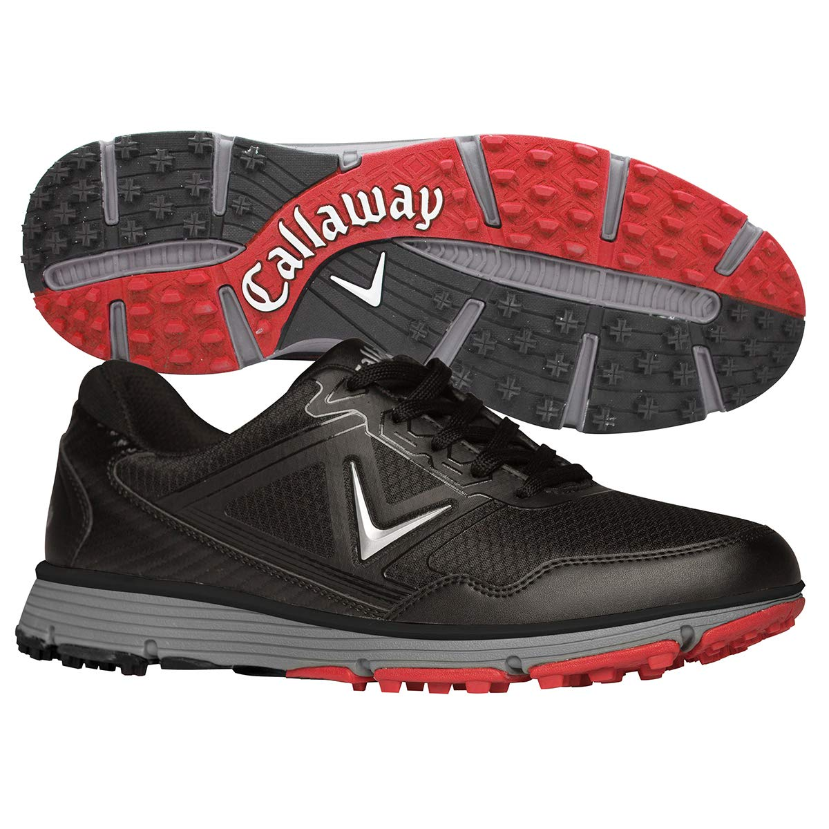 Callaway Men's Balboa Vent Golf Shoe, Black/Grey, 9 D US