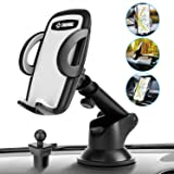 Yellow MQOUNY Car Phone Mount,2 in1 Dashboard Car Phone Holder and Air Vent Phone Holder for Car Samsung S10+ S10 S9 Handsfree Cell Phone Car Mount Compatible with iPhone XR Xs Max Xs X 8 7 6 Plus