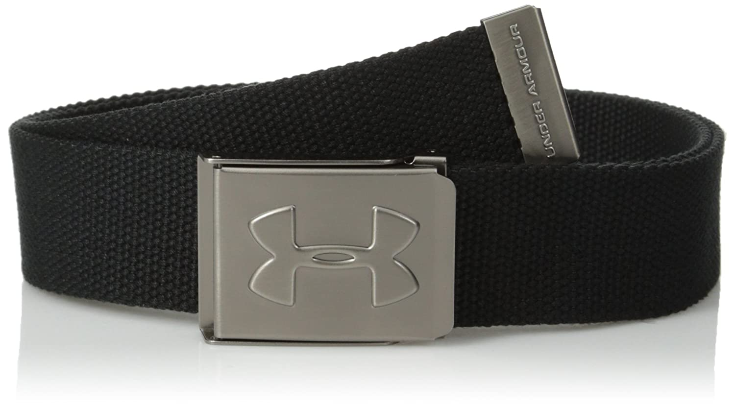 Under Armour Boys' Webbed Belt Black (001)/Graphite One Size Under Armour Accessories 1254229