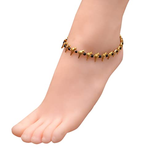 Amazon com: Sansar India Oxidized Bird Beads Indian Anklet Jewelry
