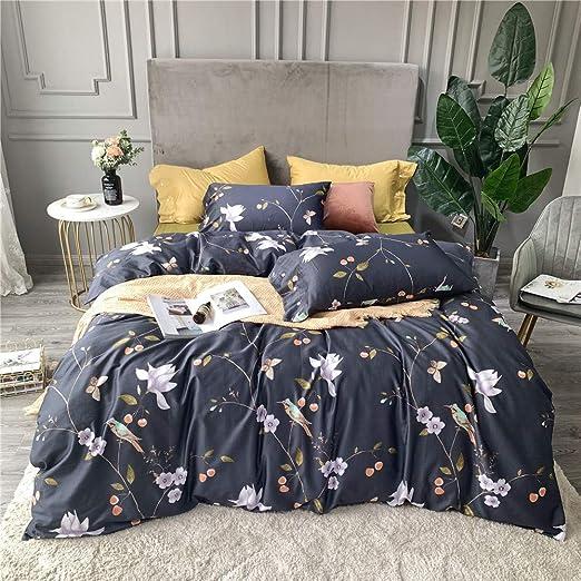 Faded Floral Birds Bedding Duvet Quilt Cover Set Single Double King Multi
