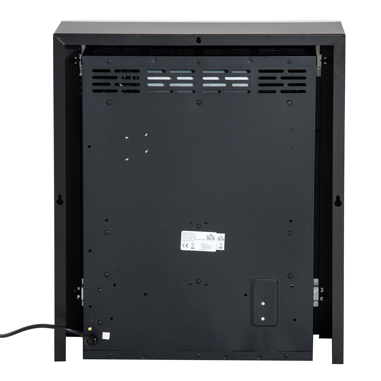 HOMCOM Kaminofen LED Elektrokamin Wandkamin Elektronisch mit mit mit Flammeneffekt Fernbedienung 90x9,5x56cm aa2583