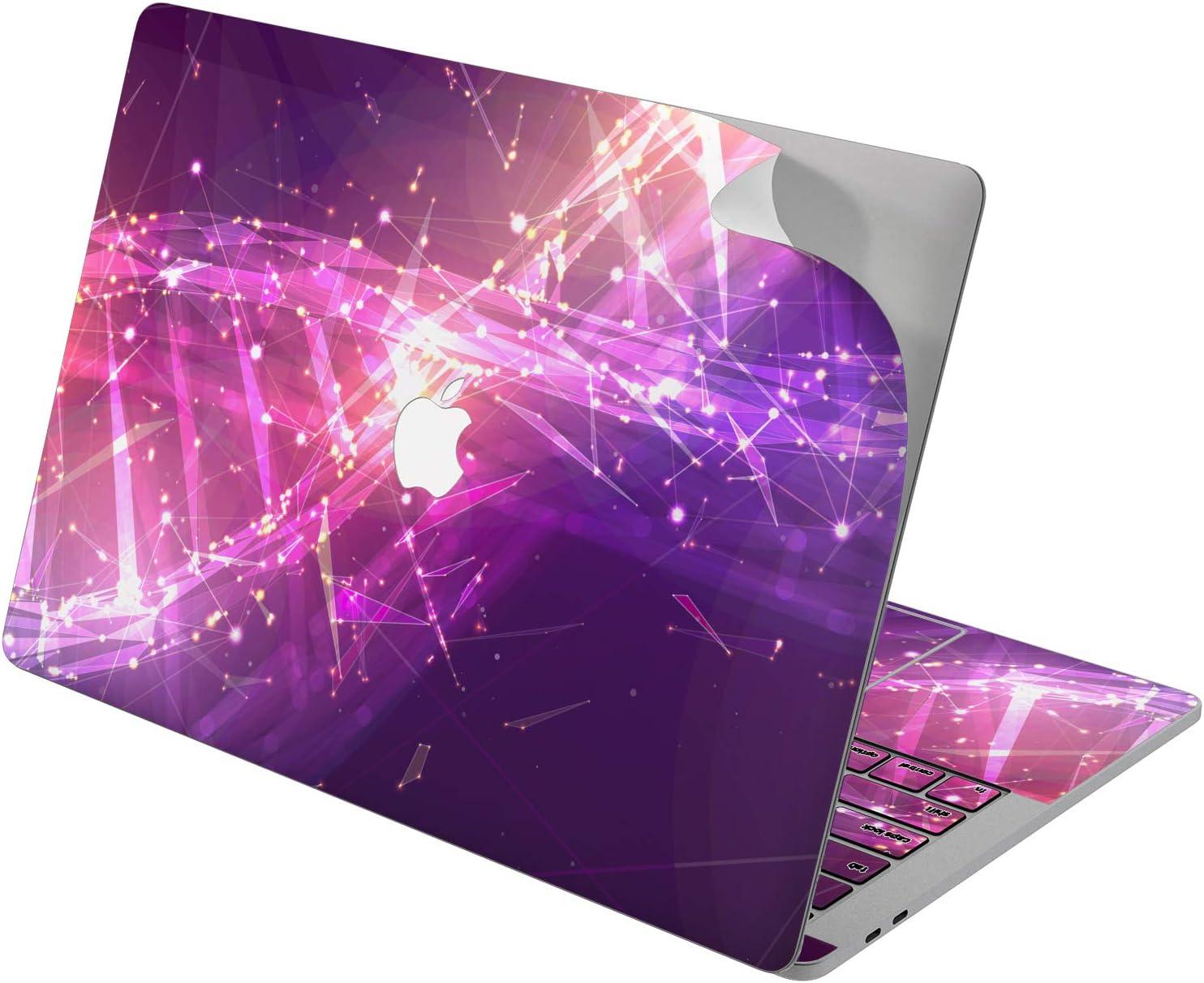 "Cavka Vinyl Decal Skin for Apple MacBook Pro 13"" 2019 15"" 2018 Air 13"" 2020 Retina 2015 Mac 11"" Mac 12"" Sticker Chemistry Pink Medical Science Molecule DNA Cover Laptop Protective Glam Design Print"
