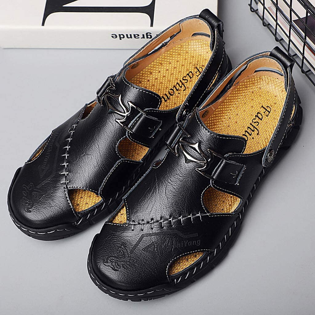 Kiminana Mens Ultra-Light Casual Shoes Fashion Summer Sandals Men Comfy Breathable Hollow Slippers Soft Flat Single Shoes