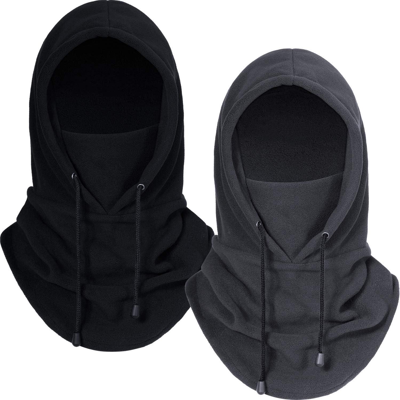 2 Pieces Balaclava Tactical Heavyweight Outdoor Sports Fleece Face and Neck Masks