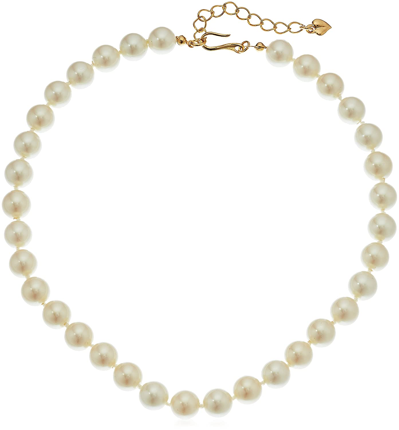 "Amazon.com: Carolee 10 mm Adjustable Pearl Strand Necklace, 16"" + 2""  Extender: Jewelry"