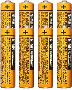 8 x Pilas Recargables AAA 630 mah 1.2v para Panasonic, baterias Recargables NiMH para telefonos inalambricos: Amazon.es: Electrónica