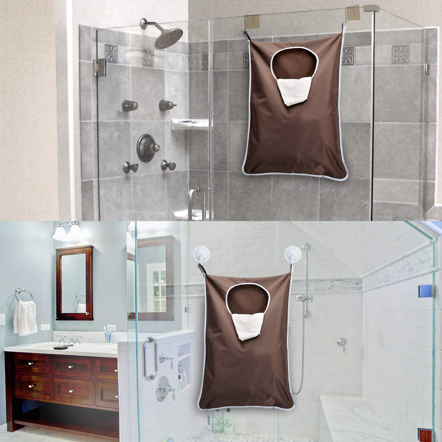 Laundry Hanging Bag, Space Saving Door-Hanging Laundry Hamper Bag and Laundry Mesh Bag for College Dorm, Apartment Dweller - Pack of 2, Large Bag