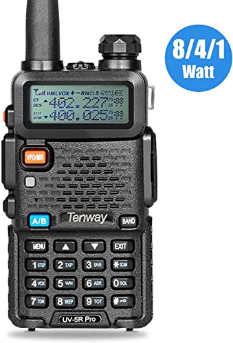 Tenway UV-5R Pro 8 Watt Dual Band Two Way Radio
