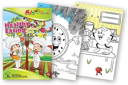 QuackDuck libro para colorear Healthy eating - saludable ...