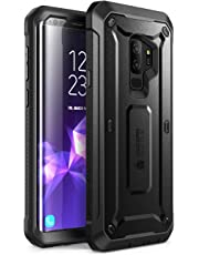 SupCase Samsung Galaxy S9+ Plus Case, Full-body Rugged Holster Case with Built-in Screen Protector for Galaxy S9+ Plus (2018 Release), Unicorn Beetle PRO Series - Retail Package (Black)