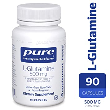 Pure Encapsulations - l-Glutamine 500 mg - Hypoallergenic Supplement  Supports Muscle Mass and