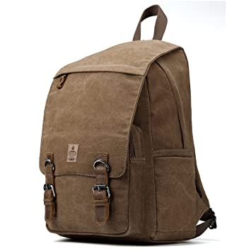 TRP0423 Troop London Heritage Canvas Leather Laptop Backpack Up To 15.6  Inch ece679db74758