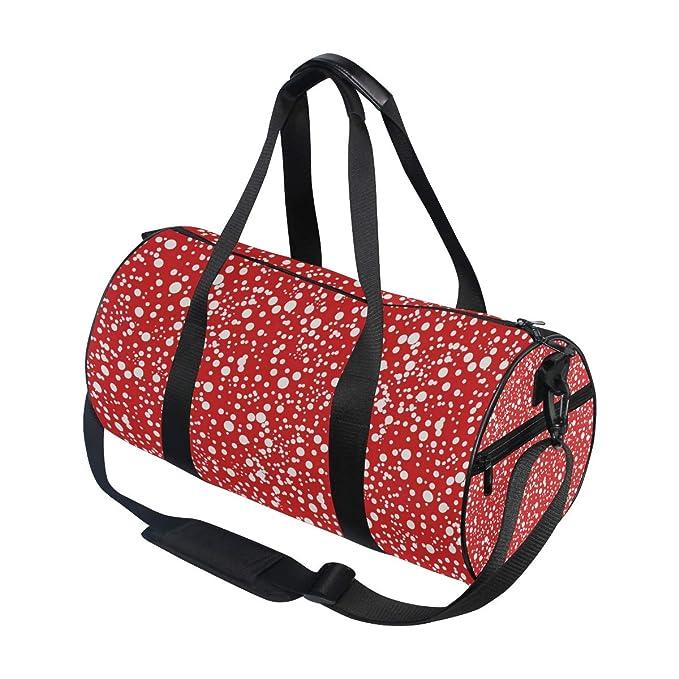 MALPLENA White Dots Drum gym duffel bag women Travel Bag