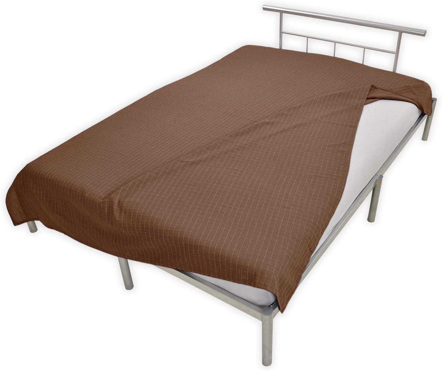 Nurtextil24 Monika Sofa/überwurf 100/% Baumwolle /Überwurf Decke Sesselschoner Bett/überwurf Lila 220 x 150 cm
