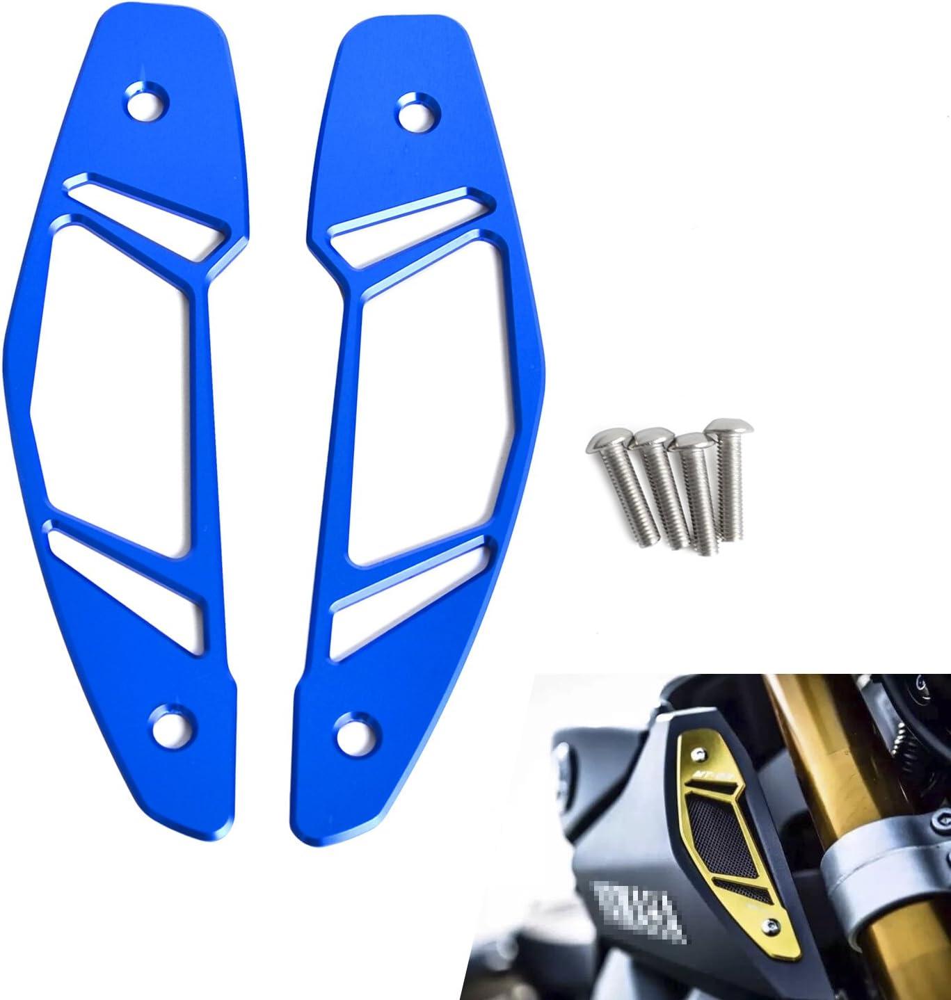 H2RACING Blau CNC Motorrad Air Intake Einlassschutz Abdeckung Schutz f/ür MT-09 FZ-09 RN29 2013 2014 2015 2016