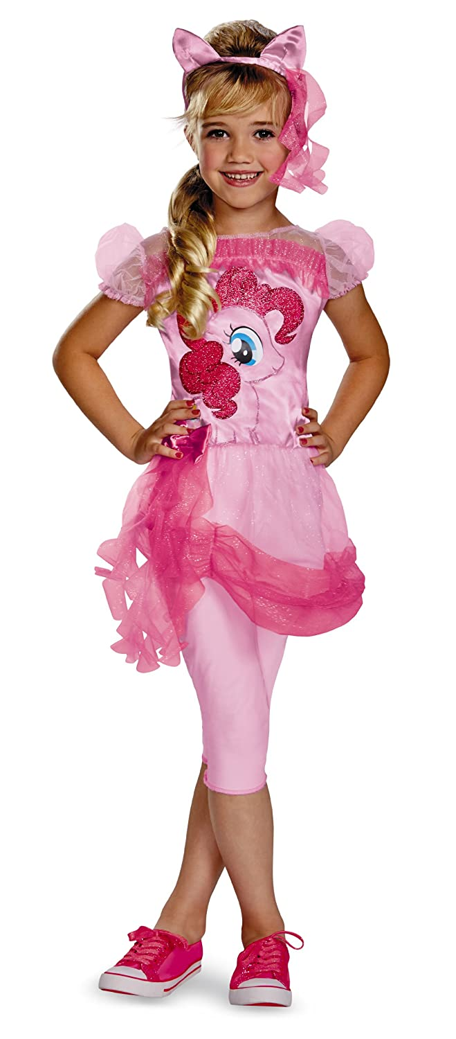 Amazon.com Hasbrou0027s My Little Pony Pinkie Pie Classic Girls Costume Medium/3T-4T Toys u0026 Games  sc 1 st  Amazon.com : pinkie pie costumes  - Germanpascual.Com