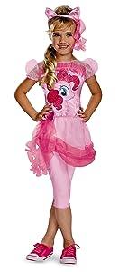 Hasbro's My Little Pony Pinkie Pie Classic Girls Costume, Small/4-6x