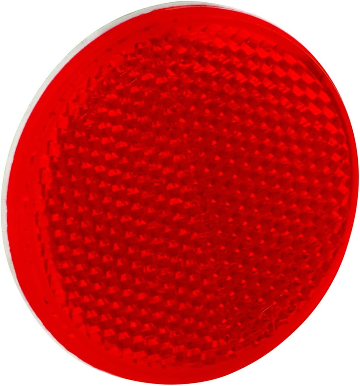 2-3//16 Round Red Bargman 70-71-170 Reflector with Center Mounting Hole