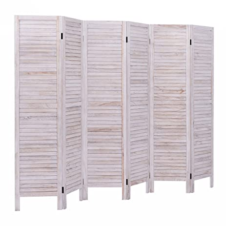 giantex 6 panel screen room divider wood folding oriental tall partition privacy screen room divider