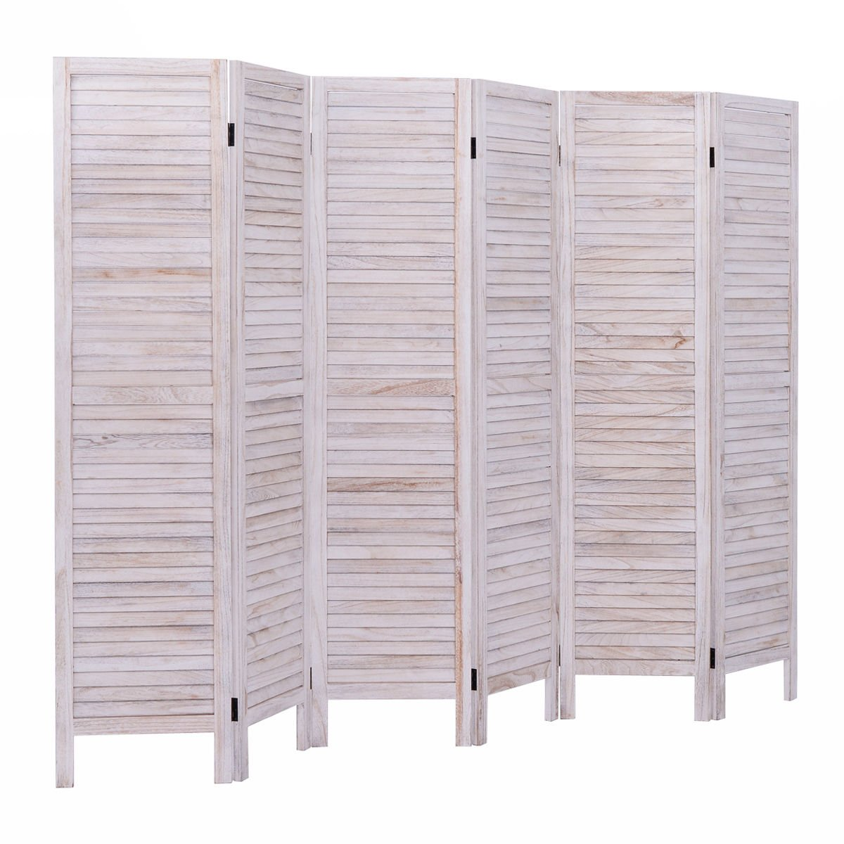 Giantex 6 Panel Screen Room Divider Wood Folding Oriental Freestanding Tall Partition Privacy Screen Room Divider (Natural)