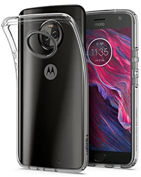 Spigen Liquid Crystal Designed for Motorola Moto X4 Case (2017) - Crystal Clear