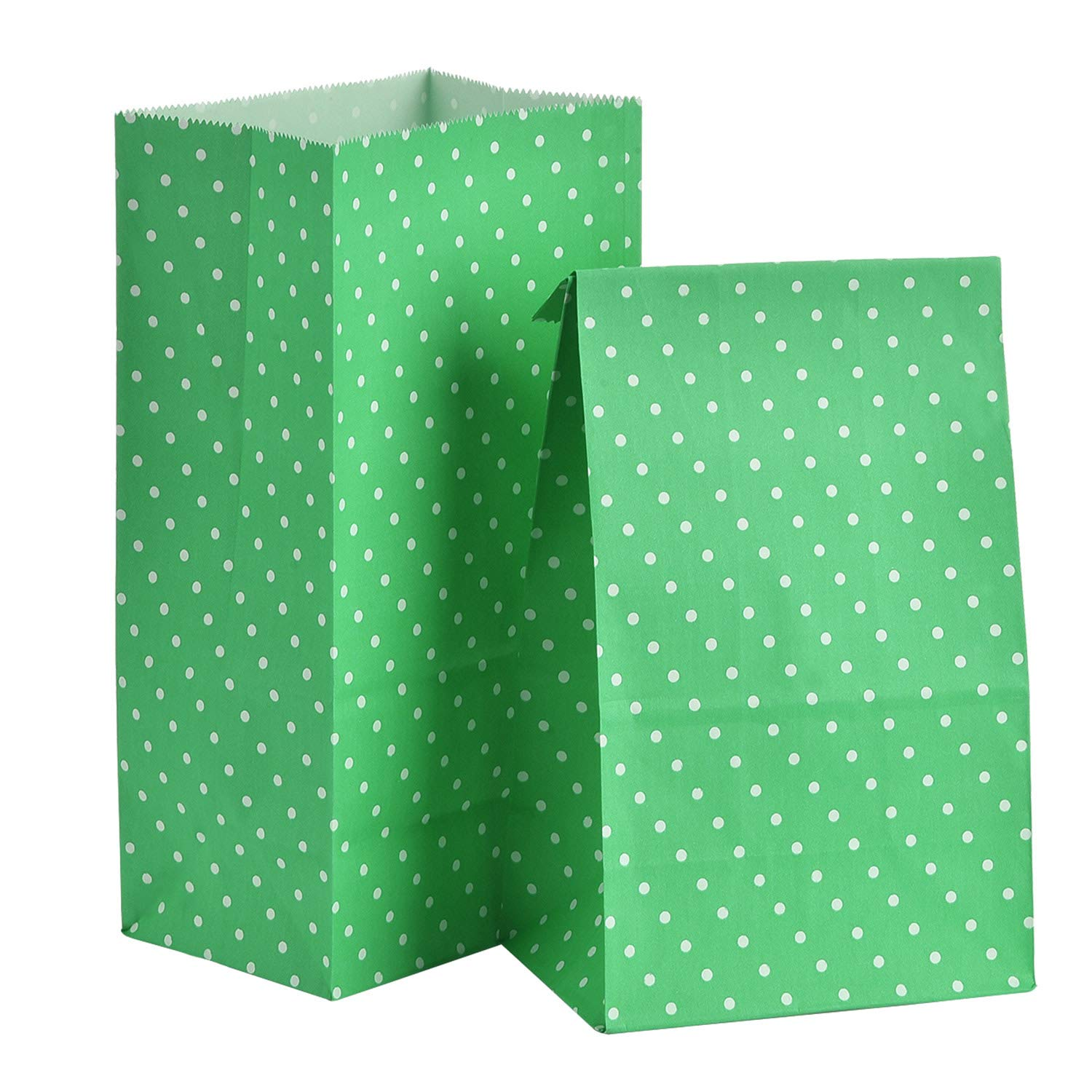 Tatuo 24 Pieces Party Bags Gift Dot Paper Bags Grocery Bags Craft Paper Bags Lunch Flat Bottom Paper Bags 18 x 9 x 6 cm, 6 Colors