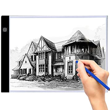 A4 Led Ligero Caja Dibujo Caja de luz artista Ligero Trazador Mesa Almohadilla de seguimiento para