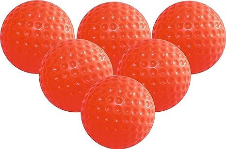 xinyiwei - 6 bolas de golf de espuma de poliuretano, color naranja