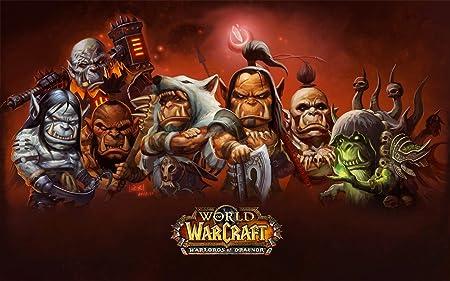 World of Warcraft Warlords of Draenor WoW WoD Poster gefaltet NEU