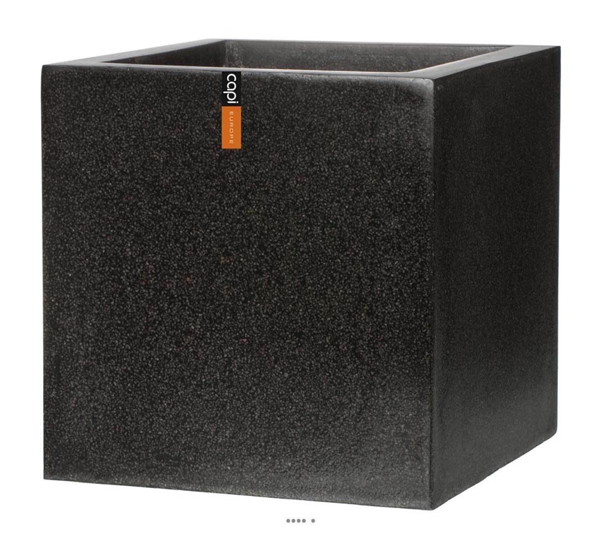 Artificielles-Vaschetta in fibre Pure baya esterno cube l, 60 x 60 x 60 cm, colore  nero, dimhaut altezza  60 cm, colore  nero