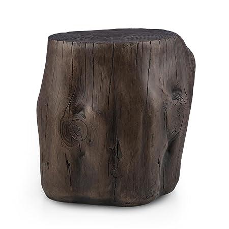 Blumfeldt Blockhouse Chair Tree Stump Seat Garden Stool (45x44x36cm, Wooden  Look, For Indoor
