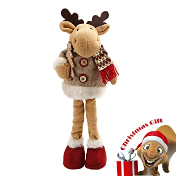 happon christmas reindeer figurine toy xmas home indoor table ornament christmas standing decor 135 tall - Christmas Deer Decorations Indoor