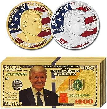 24K Plated Gold Banknotes 100 Dollar Bills Souvenir Commemorative Notes,10PCS