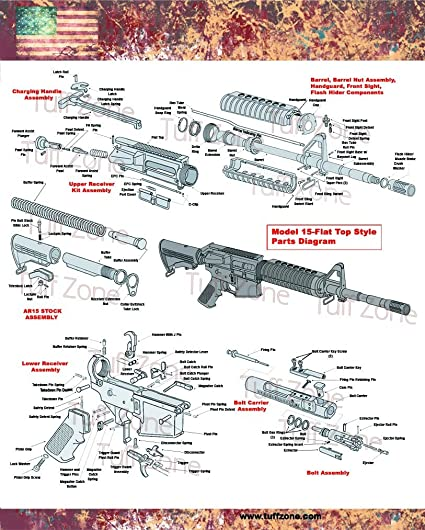 AR15 Diagram Poster 16