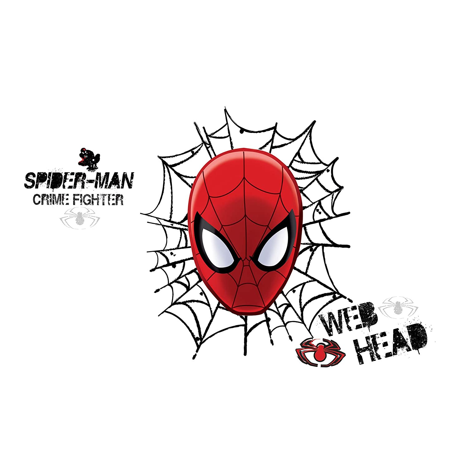 amazon com roommates rmk2172gm ultimate spider man web head peel amazon com roommates rmk2172gm ultimate spider man web head peel and stick wall decals 1 pack home improvement