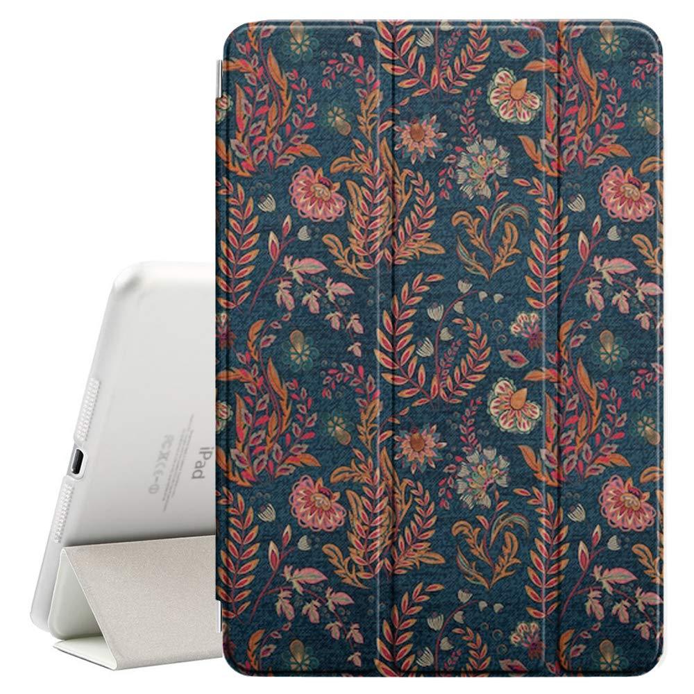 【★安心の定価販売★】 Apple Apple iPad Mini 1/2/3対応 + - Mini レザースマートカバー + ハードバックケース スリープ/スリープ解除機能付き (ブルーデニム カラフルな花柄) B07NKVW4B8, DREDLINE:8b7d3430 --- senas.4x4.lt