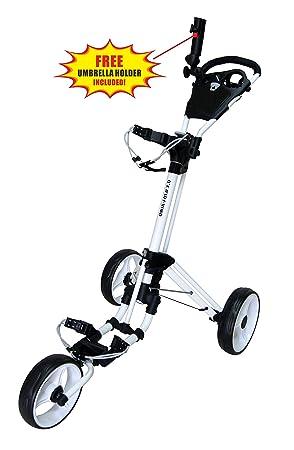 qwik fold 3 wheel golf trolley push pull golf cart foot brake Push Pull Paddle qwik fold 3 wheel golf trolley push pull golf cart foot brake one