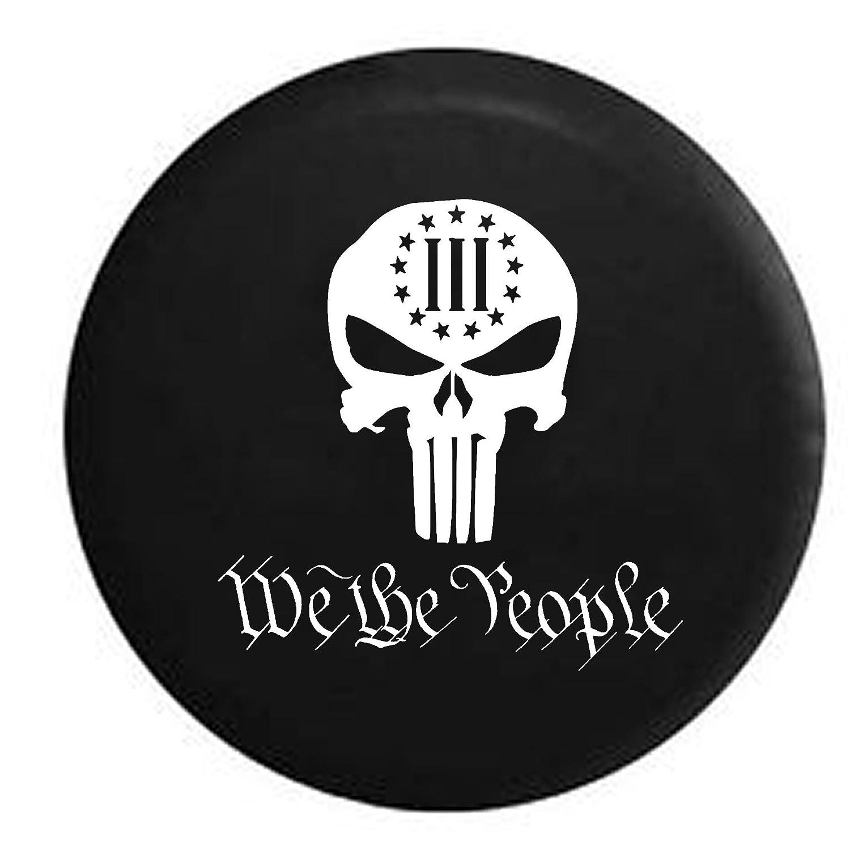 We the PeopleパニッシャースカルConstitutional 3 %自由スペアタイヤカバーOEMビニール 35