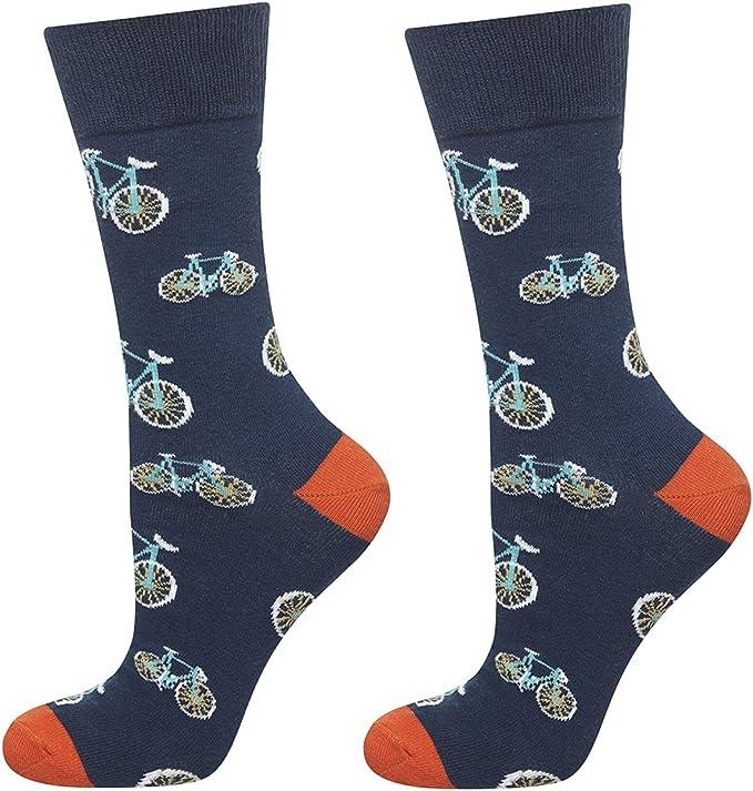 soxo Calcetines de Color para Hombre Bicicletas | Talla 40-45 | Paquete de 1 | Calcetines Algodón Largos con Dibujos Graciosos | Perfectos para Zapatos y Botas: Amazon.es: Ropa y accesorios