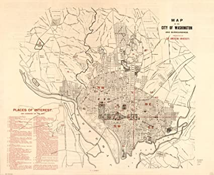 Amazon.com: Vintage 1893 Map of Map of the city of ...
